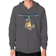 Puppy Monkey Baby Shirt Zip Hoodie (on man) Shirt