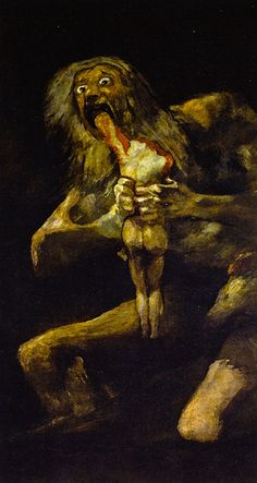Francisco de Goya - Saturn Devouring His Son, 1823 at Museo Nacional del Prado Madrid Spain  Discover the coolest shows in New York at www.artexperience...