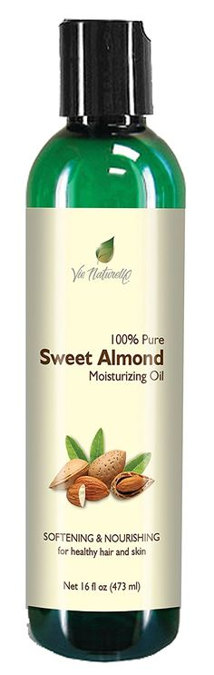 Sweet Almond Oil for Skin, Hair, Massage, and Cooking - 100 % Pure Hexane Free - No Fillers, Dyes or Artificial Ingredients of Any Kind - 16 Fl Oz -- Additional details @ : Fresh Groceries