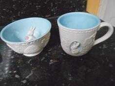 Hallmark Bunny Candy Bowl + Bunny Mug Lot of 2 NWB!!