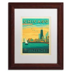 'Chicago II' by Anderson Design Group Framed Graphic Art