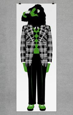 J'adore le vert (voir mes nike pour ceux qui me croisent) et j'adore son style... bravo Séverin !