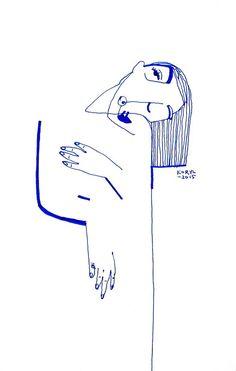 Minimalist line art ///february 2015 / karolina koryl Life Drawing, Drawing Sketches, Painting & Drawing, Art Drawings, Graphic Illustration, Art Inspo, Line Art, Collages, Illustrators