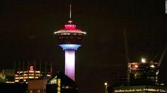 The Calgary Tower in Calgary, Alberta, Canada