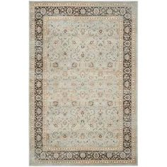 Ophelia & Co. Aldora Gray Area Rug & Reviews | Wayfair Light Colors, Light Blue, Colours, Transitional Area Rugs, Turkish Design, Cream Area Rug, Patchwork Designs, Displaying Collections, Vintage Lighting