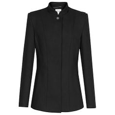 Buy Reiss Jewelled Button Lorena Jacket, Black Online at johnlewis.com