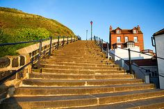 199 steps in Whitby England.  Fun to walk!