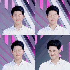Such a cute wink 😉 Jung Hyun, Kim Jung, Song Joong Ki Dots, Descendants, Gentleman Songs, Soon Joong Ki, Oppa Gangnam Style, Descendents Of The Sun, Songsong Couple