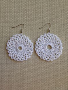 63 Trendy How To Crochet A Circle Pattern Cotton Crochet, Thread Crochet, Crochet Crafts, Crochet Lace, Crochet Hooks, Crochet Projects, Crochet Jewelry Patterns, Crochet Earrings Pattern, Crochet Bikini Pattern