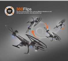 JXD 509W RC Drone with Wifi 720P Camera FPV Quadcopter App Automatic Return