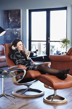 Kick off your shoes and lean back in a Stressless chair. These chairs really do live up to their name!
