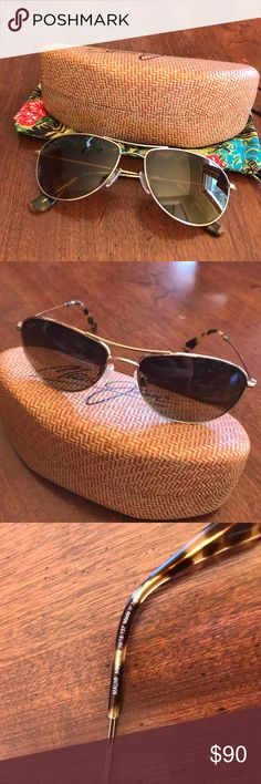 Maui Jim Baby Beach Sunglasses Maui Jim Baby Beach Sunglasses in gold -- good condition -- comes with Maui Jim hard case and cleaning bag. Firm on price no offers please. Bundle discount does not apply to this listing. Maui Jim Accessories Sunglasses
