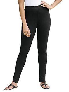 Ulla Popken Plus Size Stretch Knit Shorter-length Leggings - Black, 24/26 Ulla Popken http://www.amazon.com/dp/B005DA322A/ref=cm_sw_r_pi_dp_uJAevb0H6JK43