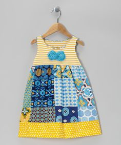Blue & Yellow Patchwork Dress - Toddler & Girls | Daily deals for moms, babies and kids