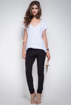T-Shirt Básica Lima Branca - MyBasic