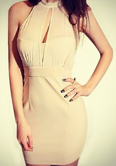Halter Bodycon Dress @LookBookStore