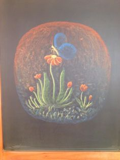 Blackboard Drawing, Blackboard Art, Chalkboard Drawings, Chalk Drawings, Form Drawing, Painting & Drawing, Waldorf Education, Nature Table, Inventors