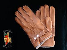 Deerskin brown leather winter men gloves with cashmere lining size 9 - JULIEN Mens Gloves, Leather Gloves, Leather Men, Brown Leather, Mitten Gloves, Mittens, Deer Skin, Men's Collection, Cashmere