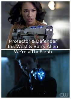Sorry Iris, but Barry looks cooler and don't ever say we're the Flash again Barry is the Flash not both of you
