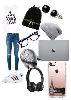 Untitled #13 by caitycheer on Polyvore featuring polyvore, fashion, style, Frame Denim, adidas, MICHAEL Michael Kors, Belk & Co., Beats by Dr. Dre, BeckSöndergaard, Casetify, The North Face and clothing
