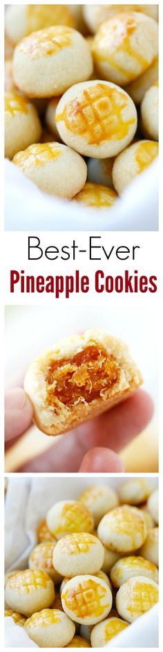 Best-ever pineapple cookies or pineapple tarts - buttery, crumbly and melt-in-your-mouth pastry with pineapple filling, the best pineapple tarts ever | rasamalaysia.com