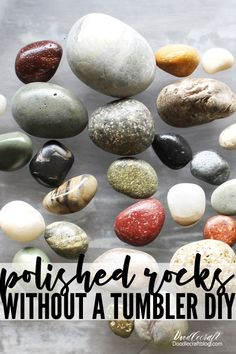 Looking for a unique craft why not check out these DIY polished rocks with high gloss resin spray. crafts unique Polished Rocks with High Gloss Resin Spray DIY Diy Resin Crafts, Rock Crafts, How To Polish Rocks, Resin Spray, Rock Tumbling, Rock Hunting, Do It Yourself Jewelry, Rock Collection, Nature Crafts