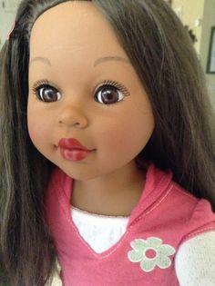 "Black African American Madame Alexander 18"" Girl Doll"