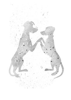 Pongo and Perdita 101 Dalmatians Disney fan by WatercolorDsgn