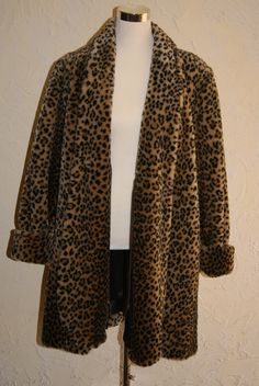Vintage J Percy For Marvin Richards Faux Fur Coat by WisdomLane