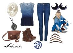"""""""Sokka, Avatar The Last Airbender"""" by jhmb ❤ liked on Polyvore featuring G-Star Raw, Ally Fashion, Jellypop, Old Navy and NOVICA"""