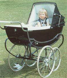 Princess Diana as a child in her Pram