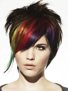Multi-colored bangs