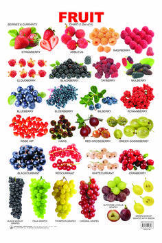 English vocabulary - Fruit Chart 2 catches the attention of tiny tots and makes them aware of the names of various fruits Food Vocabulary, English Vocabulary Words, Learn English Words, English Grammar, English Tips, English Study, English Lessons, English Food, English Class