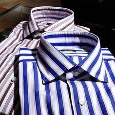 BARBAのドレスシャツ。 素敵なストライプが印象的。  #STRASBURGO #strasburgolife #strasburgomens #barba #napoli #shirt #newarrivals #fashion #outfit #ストラスブルゴ #バルバ #ファッション