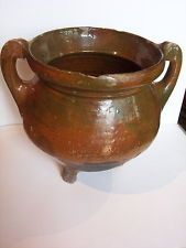 Large Medieval Pottery  2 handled cooking pot    c. (14th - (15th A.D.