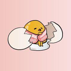 Gudetama by Monchoncho on DeviantArt Sanrio Wallpaper, Kawaii Wallpaper, Wallpaper Iphone Cute, Kawaii Drawings, Cute Drawings, Cute Egg, Creation Art, Minimalist Wallpaper, Japanese Cartoon