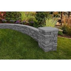 Belgard Quarry Riverblend Retaining Wall Block (Common: x Actual: x at Lowe's. The new Belgard Quarry™ Wall Block features the colors and realism of natural stacked stone previously not available on the market. Concrete Block Retaining Wall, Backyard Retaining Walls, Backyard Patio, Backyard Ideas, Small Retaining Wall, Retaining Wall Design, Concrete Walkway, Backyard Playground, Concrete Blocks