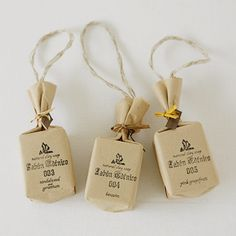 teencie soap packaging..put these around the top of a cream bottle as a cute giftset