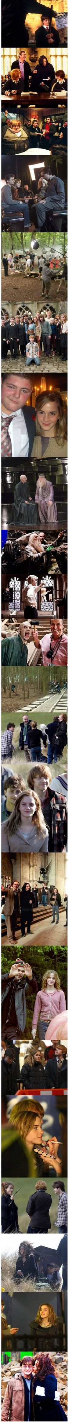HARRY POTTER :) behind the scenes, gotta love it