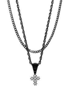 Mister Micro Crucis Necklace - Black