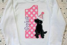 Black+Lab+Puppy+Dog+First+Second+Third+Birthday+by+bebeboutiques,+$28.00