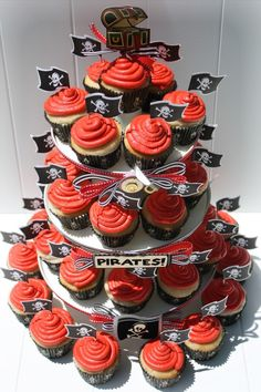 more pirate cupcake ideas