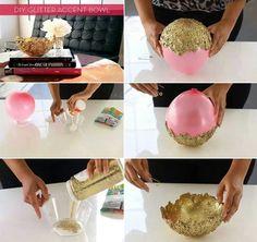DIY glitter accent bowl - fun!