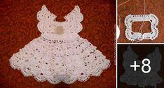 Niños Gif Baby Knitting Crochet Baby Baby Dresses Ravelry Crochet Projects Baby Girl Newborn Cute Kids Dresses For Babies Free Crochet, Knit Crochet, Crochet Hats, Little Boy And Girl, Boy Or Girl, Crochet Designs, Crochet Patterns, Baby Baptism, Crochet Doilies
