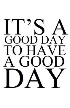 Bonne journée à tous !