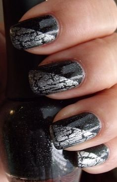 Crackle Nail Idea... WAY CUTE!!!!! :^)