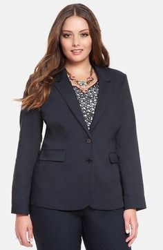 Free shipping and returns on ELOQUII 'Sydney' Double Weave Blazer at Nordstrom.com. Classic details, like notch lapels and flap-welt pockets, bring sharp, polished appeal to a double-woven blazer tailored for a fitted silhouette with two-button styling.