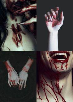 ~ you.little.dark.one Vampire Diaries, Gore Aesthetic, Blood Tears, Horror, Fiction, Maquillage Halloween, Writing Inspiration, Werewolf, Dark Art