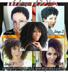 Stages of 3c Hair Types