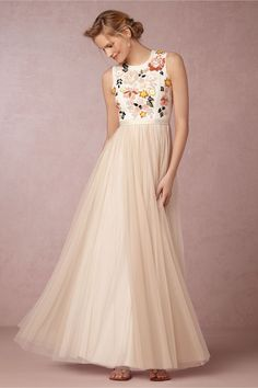 Skirt is too much like yours but I like the bodice...  Trailing Floral Maxi from @BHLDN